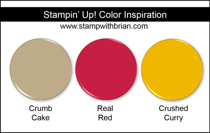 Stampin' Up! Color Inspiration - Crumb Cake, Real Red, Crushed Curry