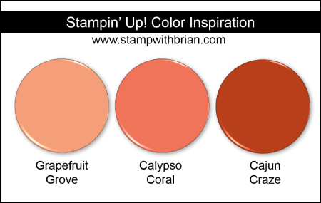 Stampin' Up! Color Inspiration - Grapefruit Grove, Calypso Coral, Cajun Craze
