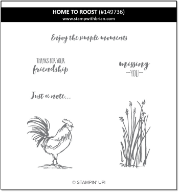 Home to Roost, Stampin' Up! 149736