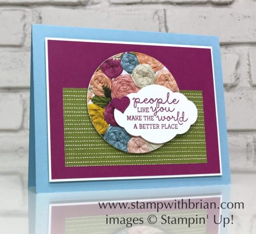Needle & Thread, Neeldepoint Nook Designer Series Paper, Stampin' Up!, Brian King