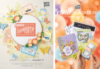 Stampin' Up! 2019 Occasions Catalog and Sale-a-Bration Brochure