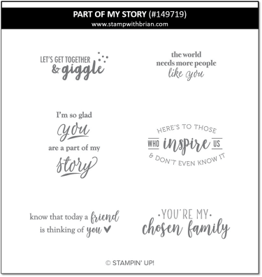 Part of My Story, Stampin' Up!, 2019 Sale-a-Bration 149719