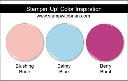 Stampin' Up! Color Inspiration - Blushing Bride, Balmy Blue, Berry Burst