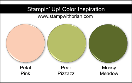 Stampin' Up! Color Inspiration - Petal Pink, Pear Pizzazz, Mossy Meadow