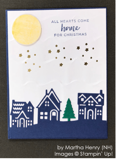 by Martha Henry, Stampin' Up! One-by-One Holiday Card Swap