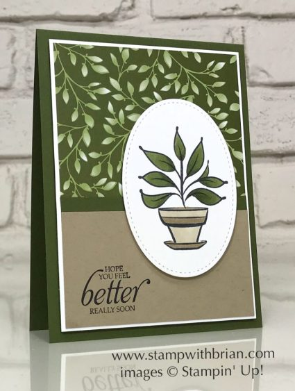 Because of You, Humming Along, Stampin' Up!, Brian King, Get Well Card