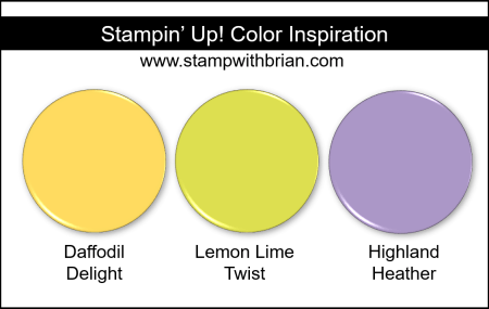 Stampin' Up! Color Inspiration - Daffodil Delight, Lemon Lime Twist, Highland Heather