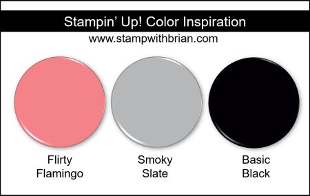 Stampin' Up! Color Inspiration - Flirty Flamingo, Smoky Slate, Basic Black