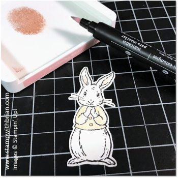 Add a touch of color with a Blender Pen, Fable Friends, Forever Lovely, Stampin' Up!, Brian King
