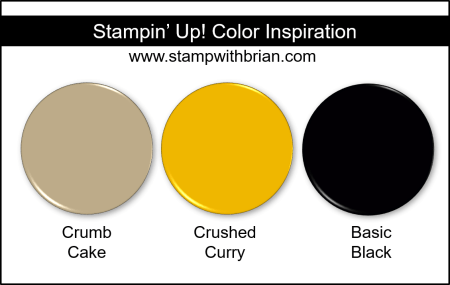 Stampin' Up! Color Inspiration - Crumb Cake, Crushed Curry, Basic Black