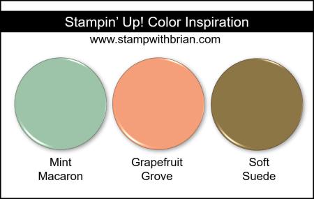Stampin Up! Color Inspiration - Mint Macaron, Grapefruit Grove, Soft Suede
