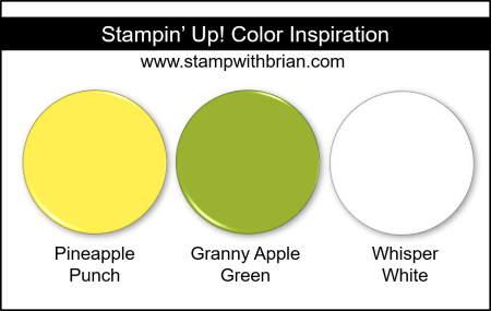 Stampin' Up! Color Inspiration - Pineapple Punch, Granny Apple Green, Whisper White