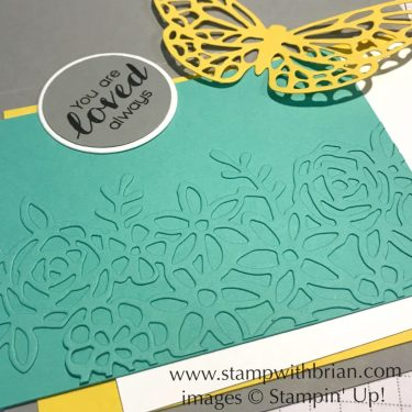 Alternative Use of Sprintime Impressions Thinlits Dies, Stampin' Up!, Brian King