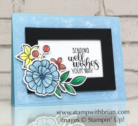 Falling Flowers, Dandelion Wishes, Rectangle Stitched Framelits Dies, Stampin' Up!, Brian King