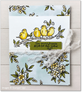 Free as a Bird, Bird Ballad Designer Series Paper, Stampin' Up! OnStage sample