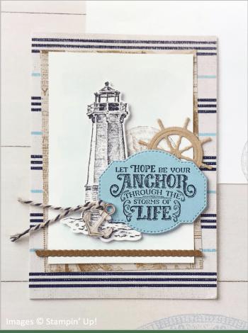 Sailing Home Bundle, Come Sail Away Designer Series Paper, Stampin' Up! OnStage sample