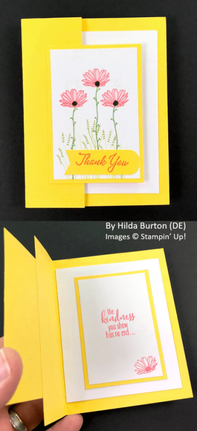 Spring One-for-One Card Swap, Stampin' Up!, by Hilda Burton