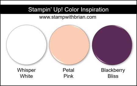 Stampin' Up! Color Inspiration - Whisper White, Petal Pink, Blackberry Bliss