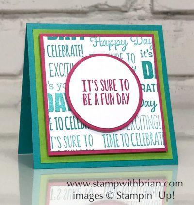 Itty Bity Birthdays, Stampin' Up!, Brian King