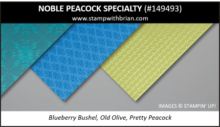 Noble Peacock Specialty Designer Series Paper, Stampin' Up! 2019 Annual Catalog, 149493