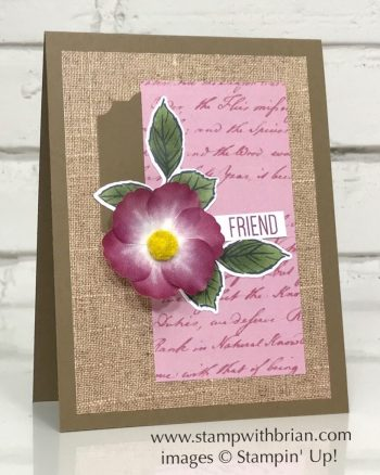 To a Wild Rose, Pressed Petals, Stampin' Up!, Brian King