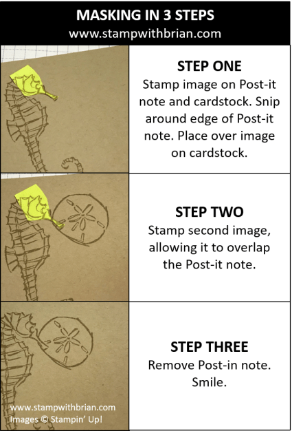Masking in Three Steps, Stampin' Up!, Brian King