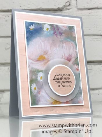 Here's a Card, Perennial Essence Designer Series Paper, Stampin' Up!, Brian King, sympathy card