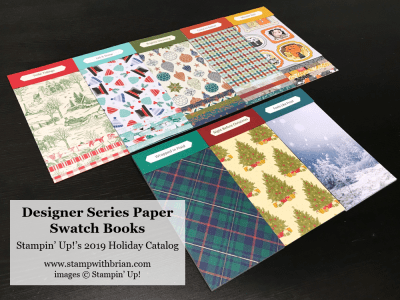 Stampin' Up! Designer Series Paper Swatch Books, 2019 Holiday Catalog, Brian KIng