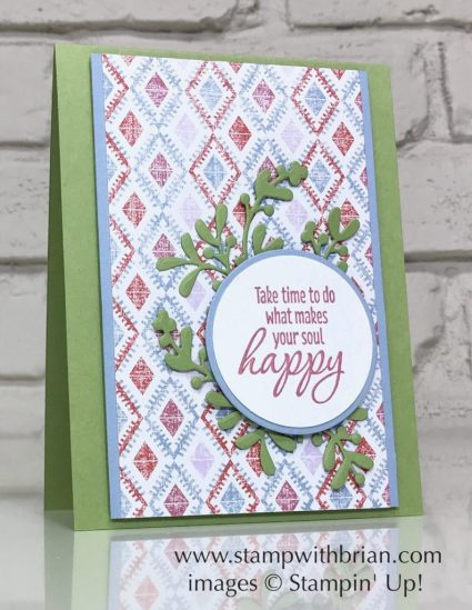 Timeless Textures, Woven Threads Designer Series Paper, Stampin' Up!, Brian King