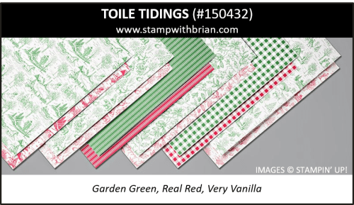 Toile Tidings Designer Series Paper, Stampin' Up! 2019 Holiday Catalog, 150432