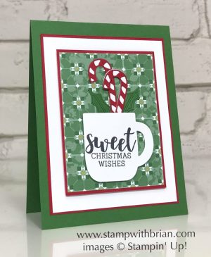 Cup of Christmas Bundle, Stampin' Up!, Brian King, Christmas card