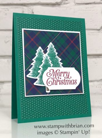 Perfectly Plaid, Stampin' Up!, Brian King, Christmas card