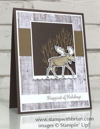 Merry Moose Bundle, In the Woods Dies, Stampin' Up!, Brian King