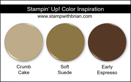 Stampin' Up! Color Inspiration - Crumb Cake, Soft Suede, Early Espresso