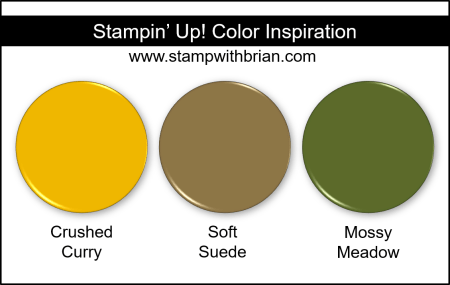 Stampin' Up! Color Inspiration - Crushed Curry, Soft Suede, Mossy Meadow