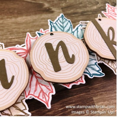 Thanksgiving banner, Stampin' Up!, Brian King