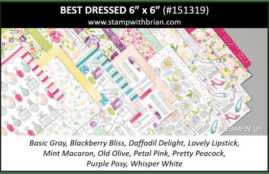"Best Dressed 6"" x 6"" Designer Series Paper, Stampin' Up! 151319"