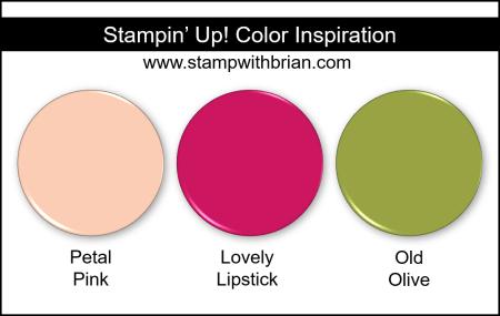 Stampin' Up! Color Inspiration - Petal Pink, Lovely Lipstick, Old Olive