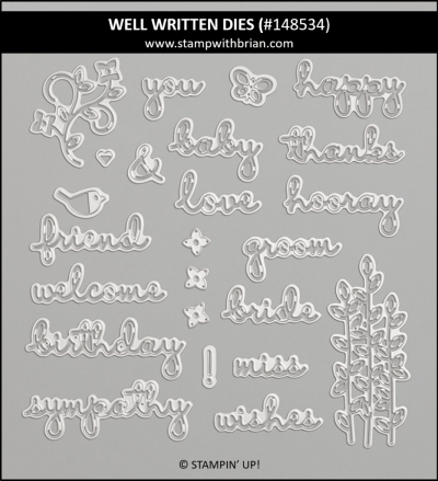 Well Written Dies, Stampin' Up! 148534