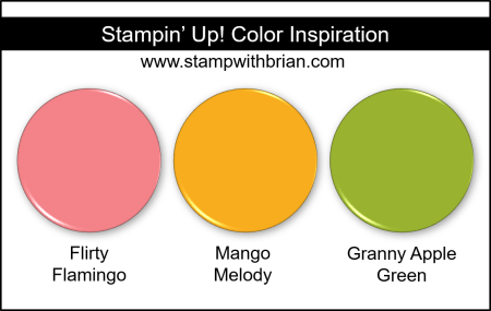 Stampin Up! Color Inspiration - Flirty Flamingo, Mango Melody, Granny Apple Green