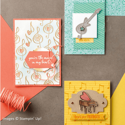 Music from the Heart catalog sample, Stampin Up!
