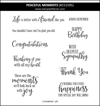 Peaceful Moments, Stampin Up! 151595