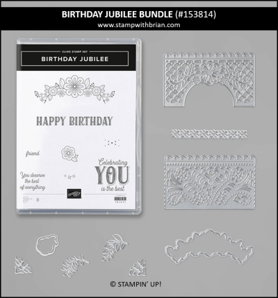 Birthday Jubilee Bundle, Stampin Up! 153814