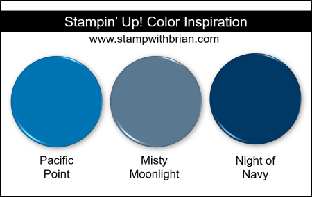Misty Moonlight Color Comparisons, Stampin Up!