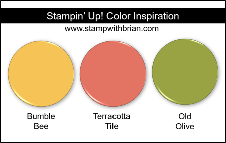 Stampin Up! Color Inspiration - Bumble Bee, Terracotta Tile, Old Olive