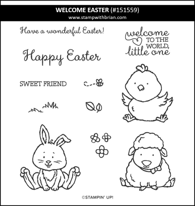 Welcome Easter, Stampin Up! 151559