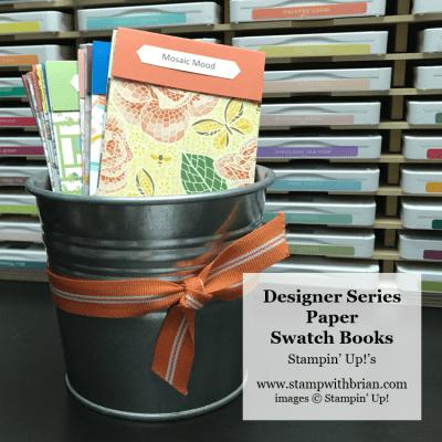 Designer Series Paper Swatch Books, Stampin Up! Brian King