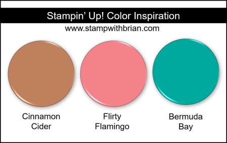 Stampin Up! Color Inspiration - Cinnamon Cider, Flirty Flamingo, Bermuda Bay