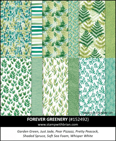 Forever Greenery Designer Series Paper, Stampin Up! 152494