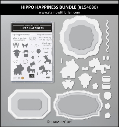 Hippo Happiness Bundle, Stampin Up! 154080